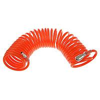 Шланг спиральный воздушный 8*12мм, 18 бар, с быстросъемными соединениями, 10м, STELS
