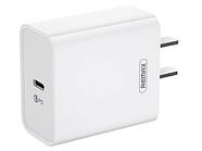 Сетевой адаптер с быстрой зарядкой Remax RP-U46 PD (USB-C, 18W,  White)