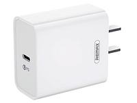 Сетевой адаптер с быстрой зарядкой Remax RP-U46 PD (USB-C, 18W,  White), фото 1