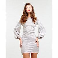 Платье с объемным рукавом MIST, бежевый, 44