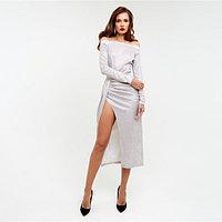 Платье с драпировкой MIST, бежевый, 46