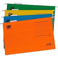 Папка подвесная Deli, А4+, оранжевая