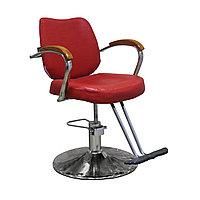 """JH-8163 Кресло парикмахерское (красное, """"мятая кожа""""), фото 1"""
