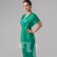 Халат кимоно без рукавов Спанбонд зеленый Чистовье (10 шт.) №2302