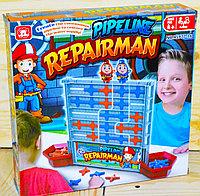 Помята упаковка!!! 977-16 Настольная игра Трубопровод Pipeline Repairman 26*26см