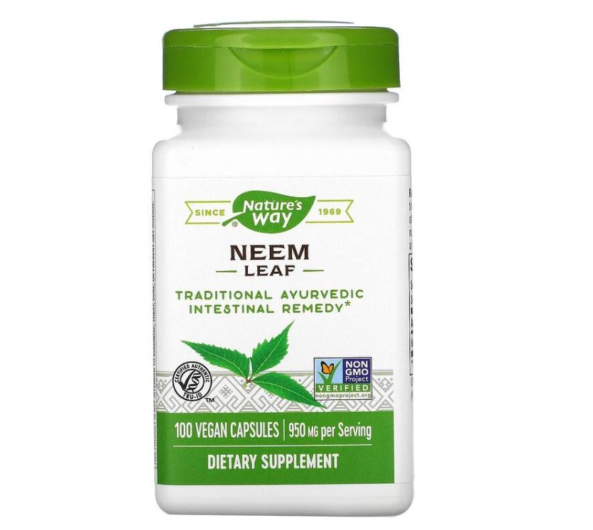 Nature's Way, лист нима, 950 мг, 100 растительных капсул