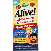 Детские мультивитамины Alive 120 табл.