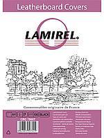 Обложки Lamirel  Delta A4  LA-78687, картонные, с тиснением под кожу , цвет: черный, 230гм², 100шт