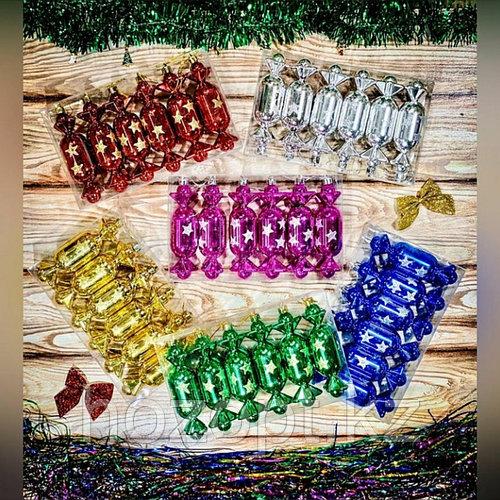Игрушки елочные в форме конфет