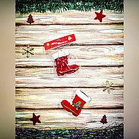 С564 Сапог (игрушка на елку), с каблуком, без сеточки, 10см