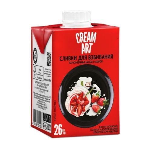 Сливки для взбивания Creamart 26%, 500 мл