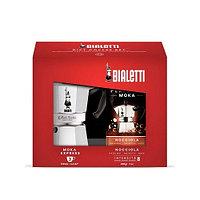 Подарочный набор Bialetti Moka Express 3 порции и кофе молотый Hazelnut 200 гр