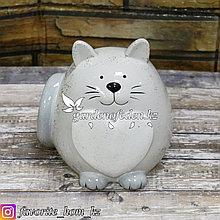 """Копилка """"Кот"""". Материал: Керамика. Цвет: Серый."""