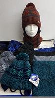 Комплект зимний для мальчиков:шапка и снуд, фирма GRANS