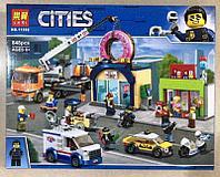 Конструктор Lari Cities 11392 Открытие магазина по продаже пончиков