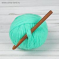 Крючок для вязания, бамбуковый, d = 10 мм, 15 см
