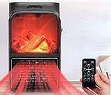 Портативный обогреватель Flame Heater  с имитацией камина., фото 2
