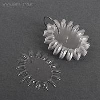 Палитра для лаков «Овал», 10 шт по 16 ногтей, цвет прозрачный
