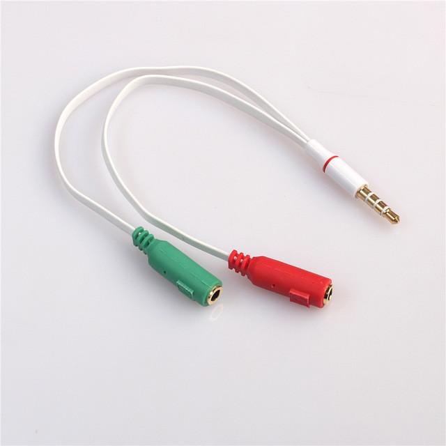3.5 мини джек сплитер для микрофона (разделяет каналы на микрофон и наушник)