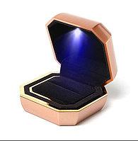 Ювелирная коробочка премиум класса с Led подсветкой. Белый, фото 1