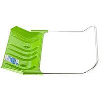 Движок для уборки снега пластиковый, 810х535х1300 мм, алюминиевая рукоятка, Россия// Сибртех