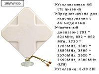 Усиливающая 4G LTE антенна для 4G роутеров + 2 кабеля по 10 метров c SMA коннекторами, модель 10MW435