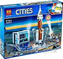 Конструктор Аналог лего Lego 60228, Lari 11387 Ракета для запуска в далекий космос и пульт управления запуском