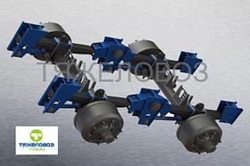 Подвеска рессорно-балансирная двухосная РБП2/360/1360
