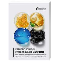 Набор тканевых масок Esthetic House Esthetic Solution Perfect Skinfit Mask, 25 мл*4 шт