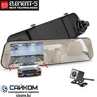 Видеорегистратор Зеркало Element-5 T86 с 2 Камерами / ОРИГИНАЛ