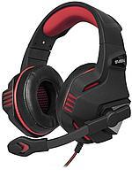 Игровые стереонаушники SVEN с микрофоном (AP-G890MV) черный-красный