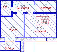 1 комнатная квартира в ЖК Будапешт 47.81 м², фото 1