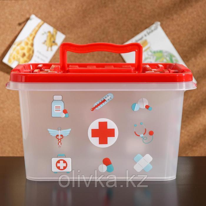 Аптечка «Доктор+», 4 л, прямоугольная, рисунок МИКС