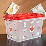 Аптечка «Доктор+», 4 л, прямоугольная, рисунок МИКС, фото 2
