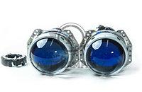 Биксеноновые линзы Hella 5 blue glass (гар-тия12 мес)(комп-т)