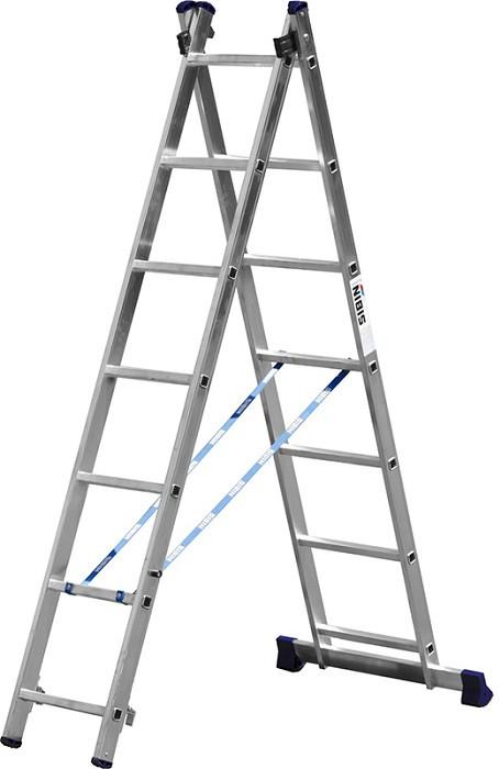 Лестница СИБИН универсальная, двухсекционная  (Лестница СИБИН универсальная, двухсекционная, 8 ступеней)