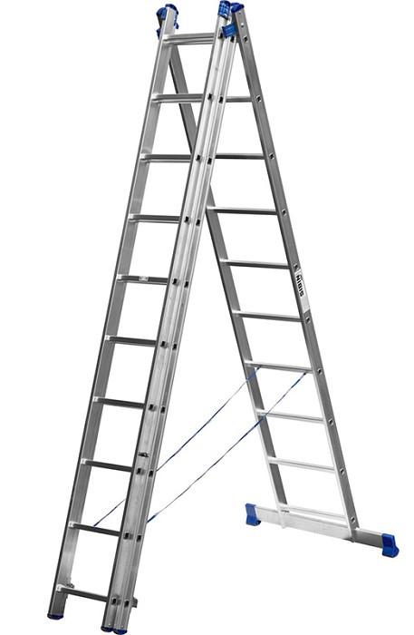 Лестница СИБИН универсальная, трехсекционная  со стабилизатором (Лестница СИБИН универсальная,трехсекционная