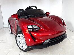 Детский электромобиль Porsche Taycan Red. Рассрочка. Kaspi RED.