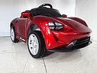 Детский электромобиль Porsche Taycan Red., фото 6