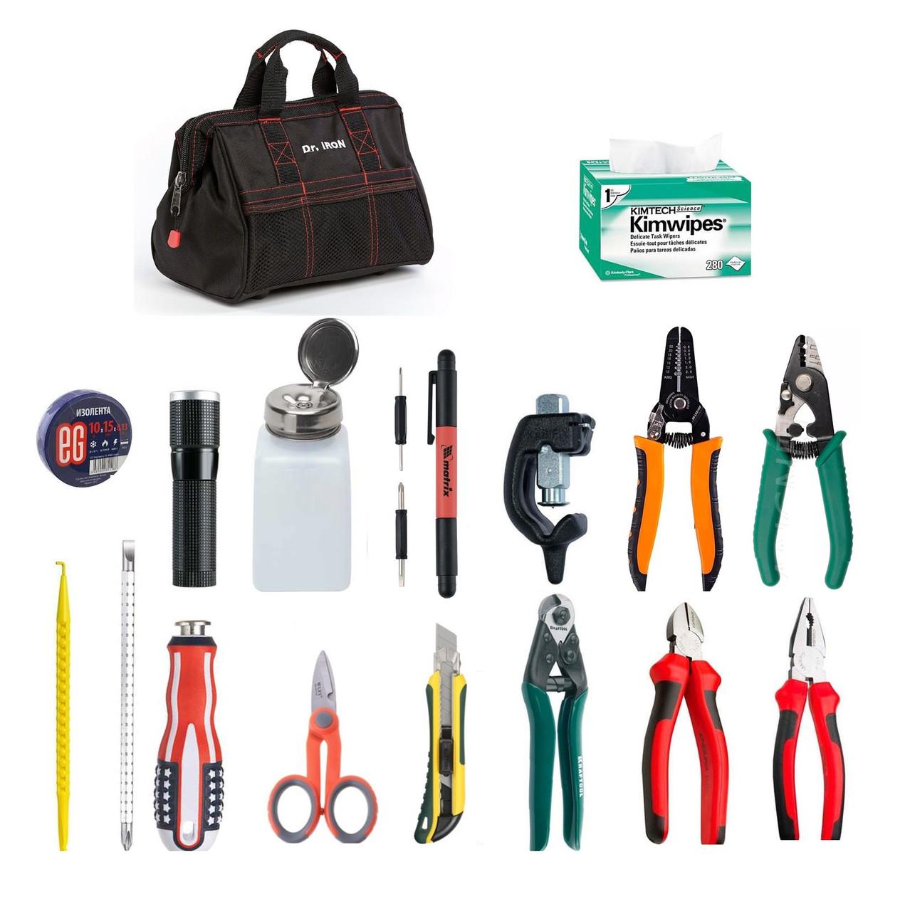 Набор инструментов для монтажа оптического кабеля