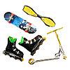 Игрушечный набор для пальцев: фингерсамокат, фингерборд, гироскутер, ролики (набор из 4 штук), фото 2