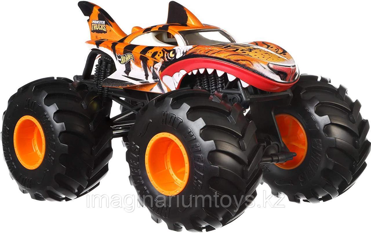 Машинка Джип Монстр Трак Monster Trucks Тигровая акула, масштаб 1:24