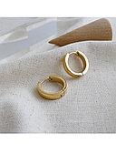 Серьги двусторонние '' Золотые кольца'' позолота, фото 5