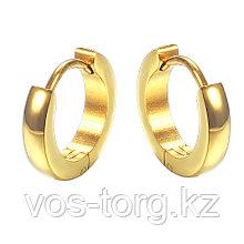 Серьги двусторонние '' Золотые кольца'' позолота