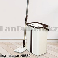 Набор для уборки швабра + ведро с отжимом насадка из микрофибры поворот швабры 360° ведро 25*20*40 cм Zambak