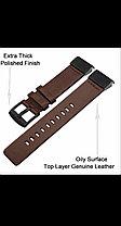 Ремешок кожаный коричневый 26мм для Garmin Fenix3, Fenix5X, Fenix5X plus, Fenix6X, Fenix6X pro, фото 2