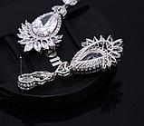 """Серьги """"Султан Ахмет"""" с прозрачными кристаллами, фото 7"""