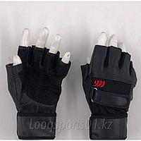 Тренировочные перчатки для фитнеса кожаные