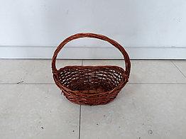 Плетенная подарочная корзина для фруктов, шампанского, конфет. Размер 32 см. Рассрочка. Kaspi RED