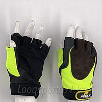 Тренировочные перчатки для фитнеса кожаные RDX